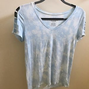 baby blue tie dye soft and sexy tee